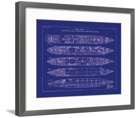 Titanic Blueprint II-The Vintage Collection-Framed Art Print