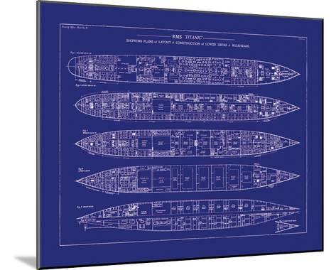 Titanic Blueprint II-The Vintage Collection-Mounted Giclee Print