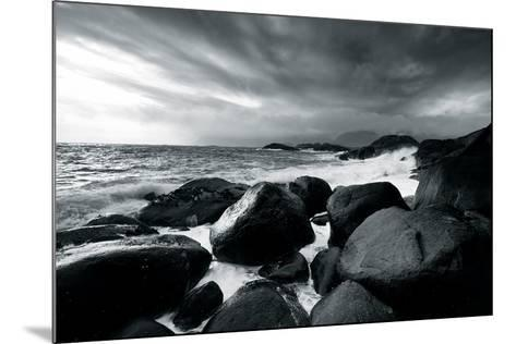 Rocks and Spray-Andreas Stridsberg-Mounted Giclee Print