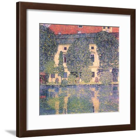 The Schloss Kammer-Gustav Klimt-Framed Art Print