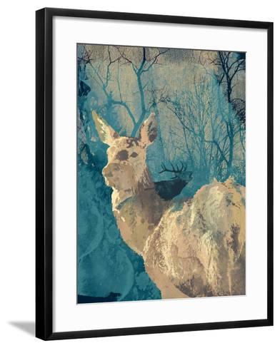 Deerhood IV-Ken Hurd-Framed Art Print