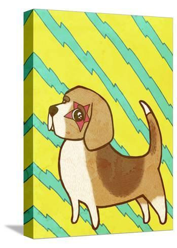 Beagle-My Zoetrope-Stretched Canvas Print