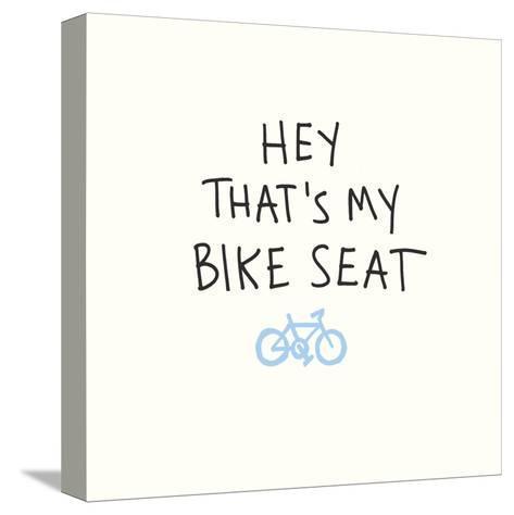Bike Seat-Urban Cricket-Stretched Canvas Print