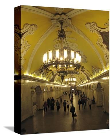 Metro Station Komsomolskaja, Moscow, Russia--Stretched Canvas Print