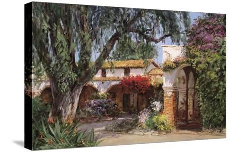 Capistrano Sunlight-George W^ Bates-Stretched Canvas Print