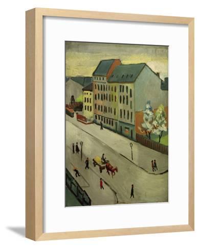 Our Street in Grey, 1911-Auguste Macke-Framed Art Print