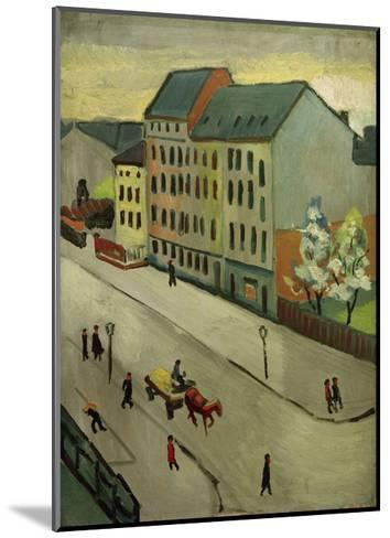 Our Street in Grey, 1911-Auguste Macke-Mounted Giclee Print