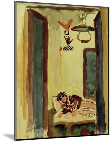 Woman on Daybed-Auguste Macke-Mounted Giclee Print