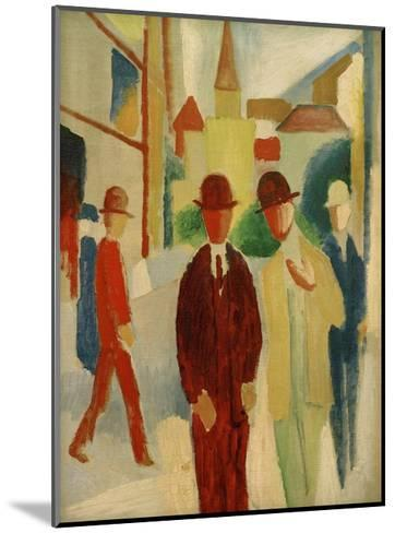 Brights street with people, 1914-Auguste Macke-Mounted Giclee Print