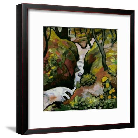 Forest Brook-Auguste Macke-Framed Art Print