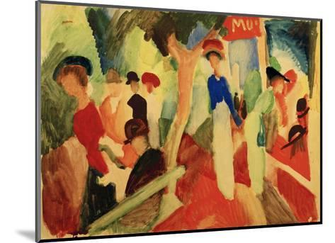 Hat Shop at the Promenade-Auguste Macke-Mounted Giclee Print
