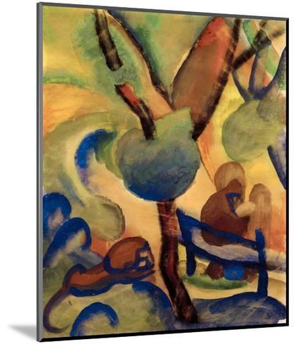 Hermit with lion-Auguste Macke-Mounted Giclee Print