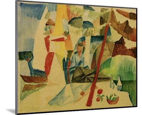 Picnic After Sailing-Auguste Macke-Mounted Giclee Print