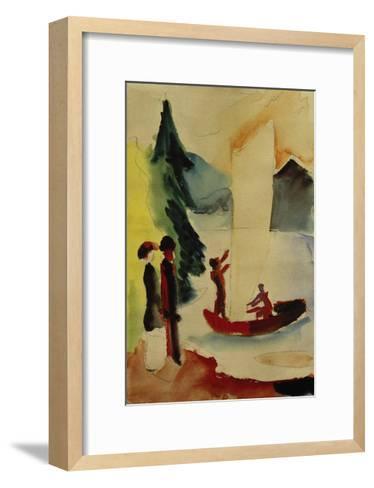 Yellow Sail-Auguste Macke-Framed Art Print