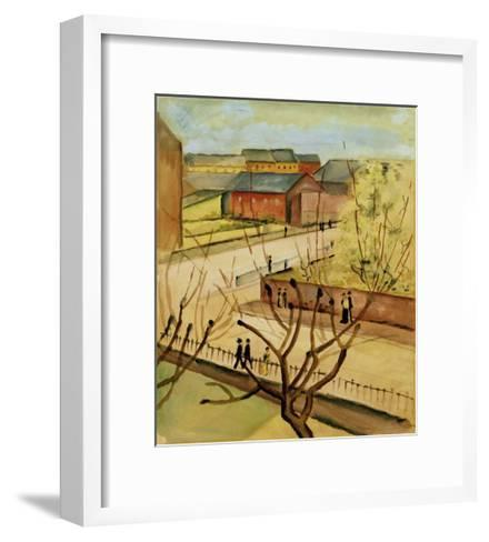 View of our street in spring, 1912-Auguste Macke-Framed Art Print
