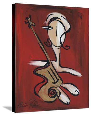 Woman with Guitar-Christian Pavlakis-Stretched Canvas Print