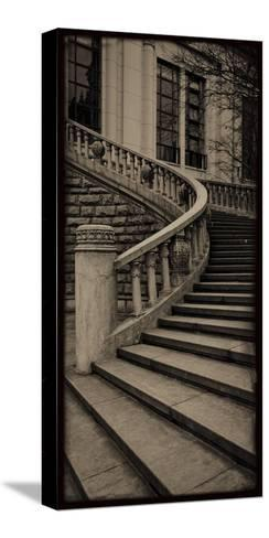 Sepia Architecture III-Tang Ling-Stretched Canvas Print