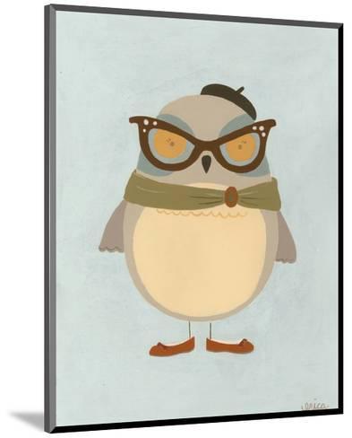 Hipster Owl I-Erica J^ Vess-Mounted Art Print