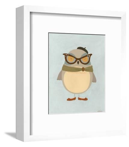 Hipster Owl I-Erica J^ Vess-Framed Art Print