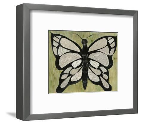 Butterfly Text-Lisa Choate-Framed Art Print
