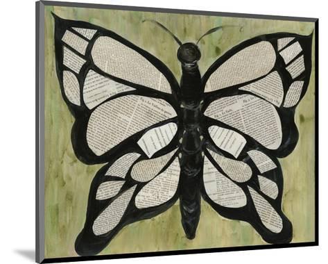 Butterfly Text-Lisa Choate-Mounted Art Print