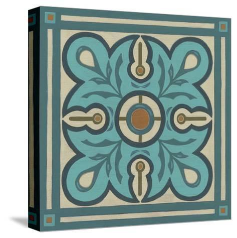 Piazza Tile in Blue III-Erica J^ Vess-Stretched Canvas Print