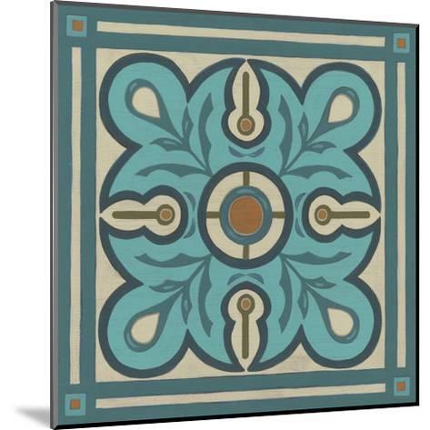 Piazza Tile in Blue III-Erica J^ Vess-Mounted Art Print