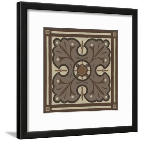 Piazza Tile in Brown IV-Erica J^ Vess-Framed Art Print