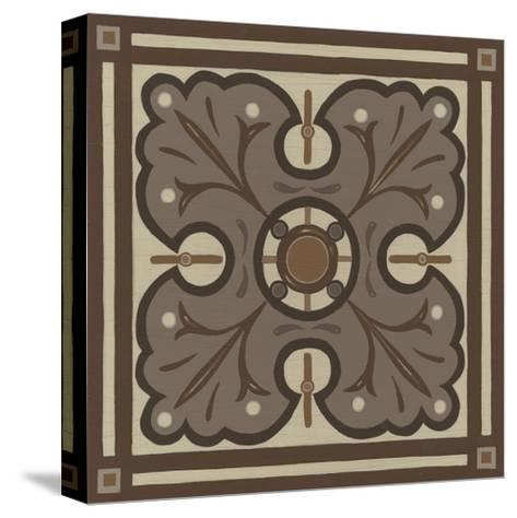 Piazza Tile in Brown IV-Erica J^ Vess-Stretched Canvas Print