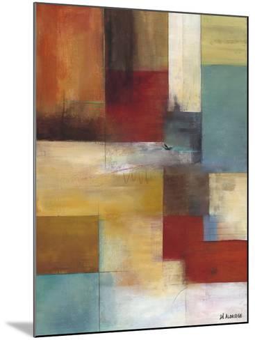 Abstract Blue-W^ Green-Aldridge-Mounted Art Print