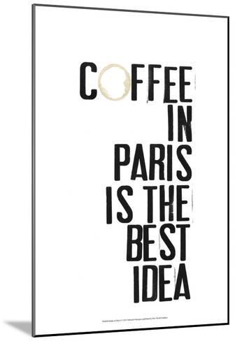 Drinks in Paris I-Deborah Velasquez-Mounted Art Print