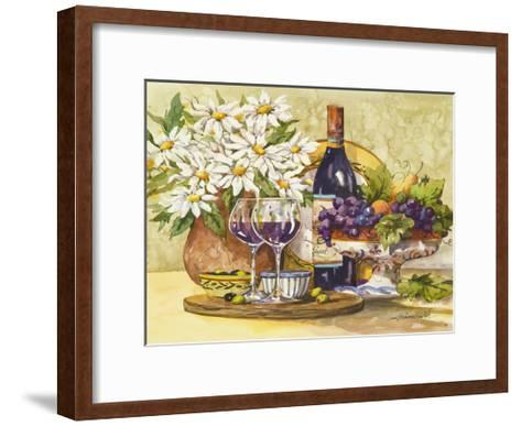 Wine & Daisies-Jerianne Van Dijk-Framed Art Print
