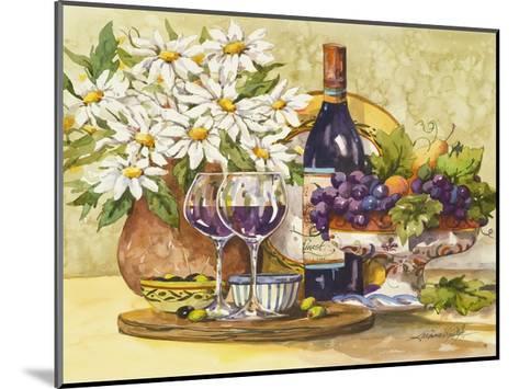 Wine & Daisies-Jerianne Van Dijk-Mounted Art Print