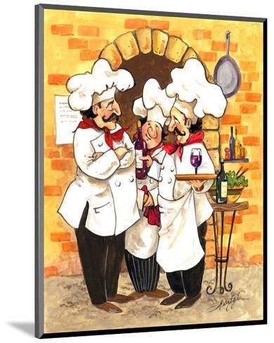 Wine Chefs-Jerianne Van Dijk-Mounted Art Print