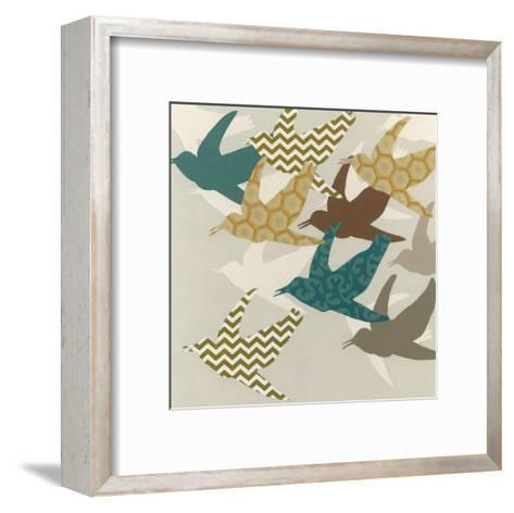 Patterned Flock II-Erica J^ Vess-Framed Art Print
