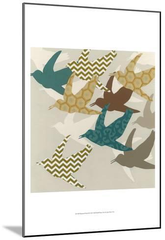 Patterned Flock II-Erica J^ Vess-Mounted Art Print