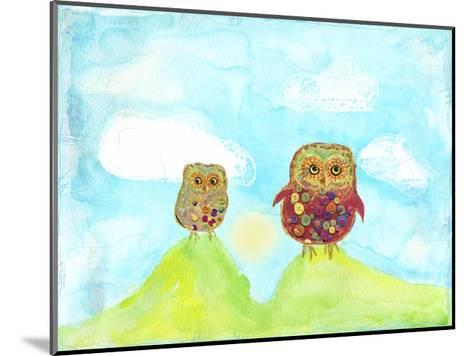 Hilltop Owls-Ingrid Blixt-Mounted Art Print