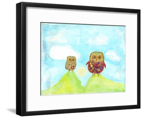 Hilltop Owls-Ingrid Blixt-Framed Art Print
