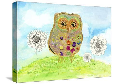 Owl & Flowers-Ingrid Blixt-Stretched Canvas Print