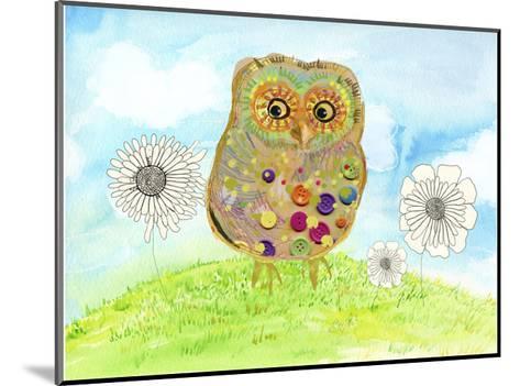 Owl & Flowers-Ingrid Blixt-Mounted Art Print