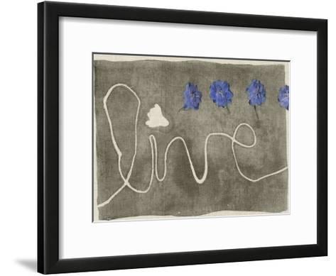 Simple Words III-Jennifer Goldberger-Framed Art Print