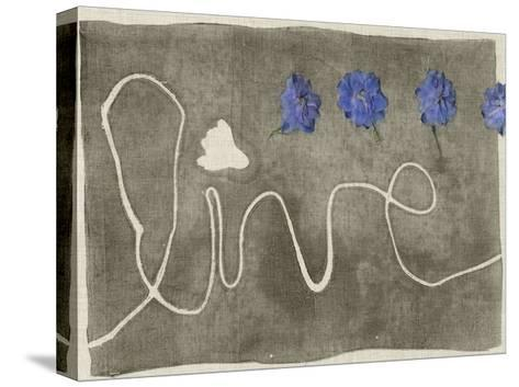 Simple Words III-Jennifer Goldberger-Stretched Canvas Print