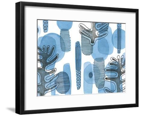 Mod Leaves II-Deborah Velasquez-Framed Art Print