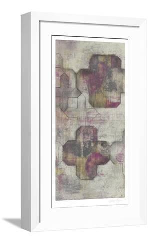 Raspberry Quatrefoil II-Jennifer Goldberger-Framed Art Print