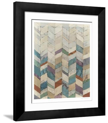 Chevron Overlay I-Megan Meagher-Framed Art Print
