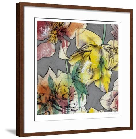 Graffiti Flowers I-Jennifer Goldberger-Framed Art Print