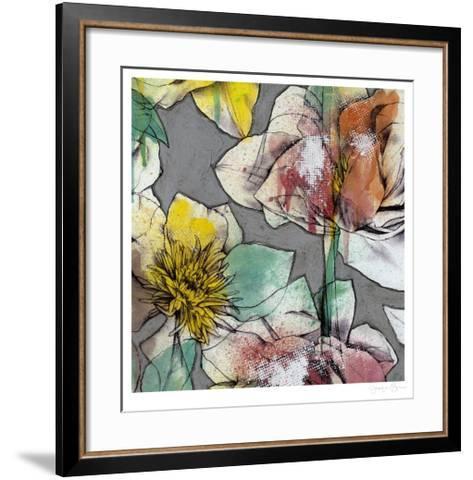 Graffiti Flowers IV-Jennifer Goldberger-Framed Art Print