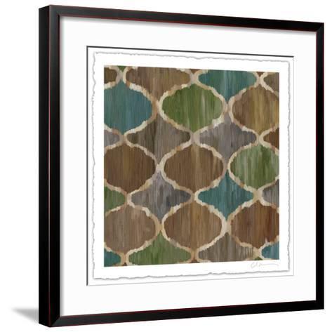 Ikat Symmetry IV-Chariklia Zarris-Framed Art Print