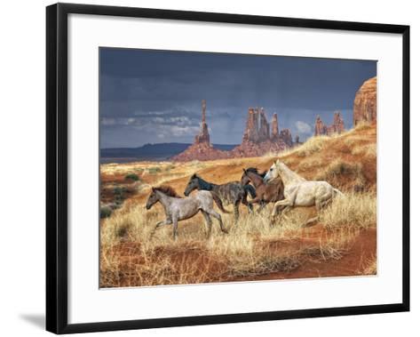Monumental Run-David Drost-Framed Art Print