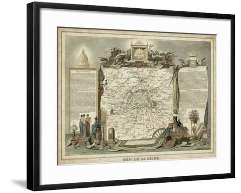 Atlas Nationale Illustre I-Victor Levasseur-Framed Art Print